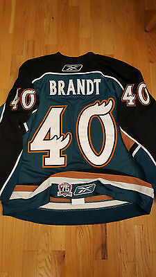 ANDY BRANDT Manitoba Moose Game Issued Hockey Jersey AHL Wisconsin Pro Stock 56