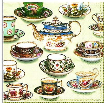 High Tea Cup Cakes 20 Paper Napkins Serviettes Teapopts Cups And saucers