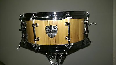*REDUCED* DSP Drums One off 12x5 Cedar Stave snare drum with Walnut stripes