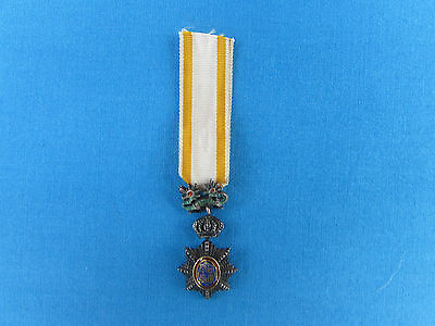 Original French Made Indochina Royal Order Of Cambodia Miniature Medal Rvn Laos