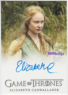 2016 Game Of Thrones S5 Auto: Elizabeth Cadwallader/lollys Stokeworth Autograph