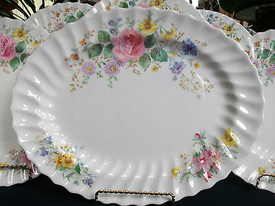 "Royal Doulton Arcadia- Scalloped-Green Mark- Oval Platter- 13 1/2""- Great!!"
