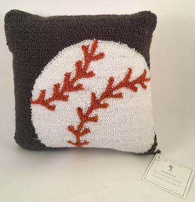 Pottery Barn Kids Baseball Hook and Loop Deco Pillow NEW