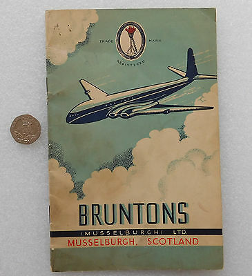 Bruntons Musselburgh catalogue aircraft products AGS vintage 1940s 1950s DAMAGED