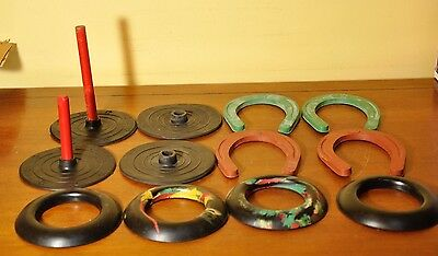 Rubber Quoits and Horses Set