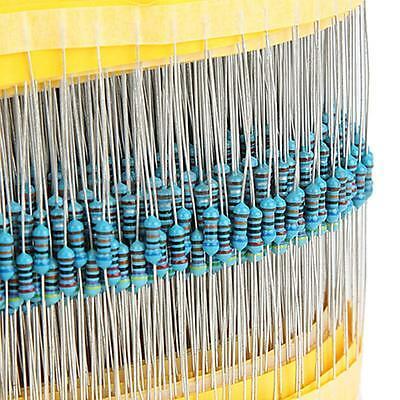 600Pcs 30 Values ¼W Metal Film Resistors Resistance Assortment Kit Set US