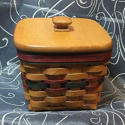 Longaberger Father's Day 1998 Finder's Keepers Basket, Lid, & Protector