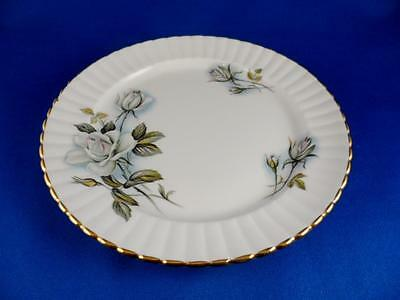 "Bread + Butter Plate: Royal Windsor England Fine Bone China  6.25"" WHITE ROSE"