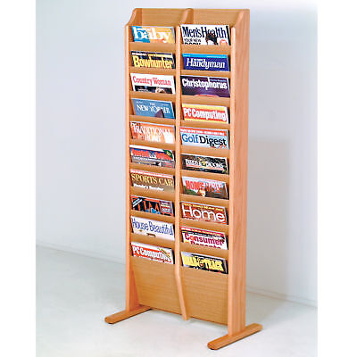 Free Standing Cascade  Magazine Literature Stand Brochure Holder Phamphet Rack