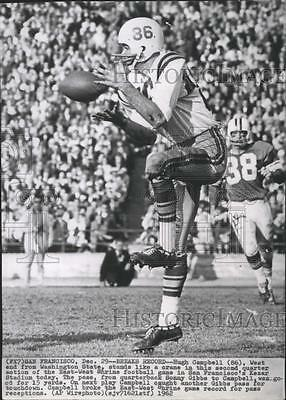 1962 Press Photo Hugh Campbell West end from Washington State Football