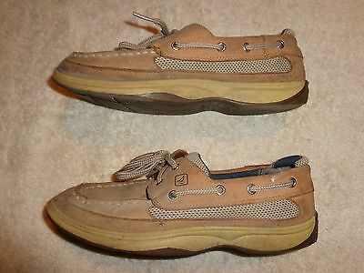 Sperry Top-Sider BROWN SHOES BOYS YOUTH SIZE 6 M