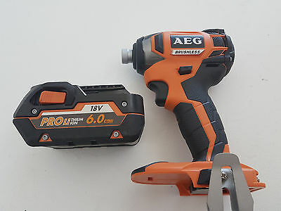 AEG 18v Brushless Impact Driver with 6Ah Battery - New never used, Free post