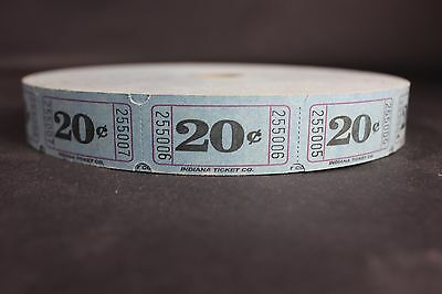 Vintage 20 Cent Indiana Ticket Co Carnival Fair Amusement Park Ride Full Roll