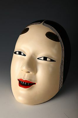 Japanese WOODEN NOH MASK -Young Lady- Ko omote
