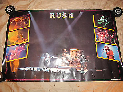 Rush 1982 Original Poster Cat Productions Exit Stage Left Moving Pictures Rare