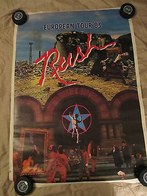 RUSH EUROPEAN '83 TOUR POSTER MOVING PICTURES SIGNALS VINTAGE RARE 80's 1983
