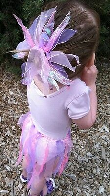 Little girls Purple and Pink Tutu & Pony Holder