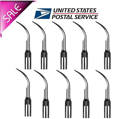 10PCS Dental Perio Tips GD1 Fit Satelec DTE Ultrasonic Piezo Scaler Handpiece