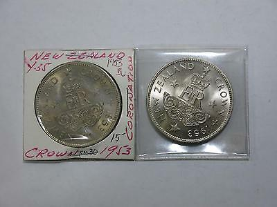 2- New Zealand 1953 Cn Commemorative Gem Uncirculated $1 Crown Collection Lot 5