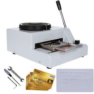 72 Character Letter PVC Card Embossing Code Embosser Manual Machine Card Frame
