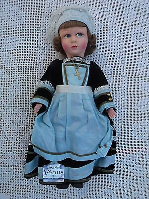 Poupees La Venus Paris Vintage French Cloth Felt Doll Original Tag French