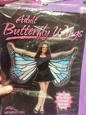 Adult Butterfly Wings Blue And Black Fun World Brand Butterfly Halloween Costume