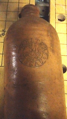 ANTIQUE GERMAN 1890s STONEWARE POTTERY SELTERS NASSAU MINERAL WATER BOTTLE