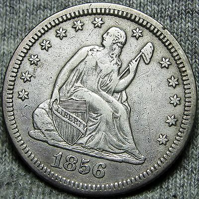 1856 Seated Liberty Quarter Dollar -- TYPE COIN -- #O962