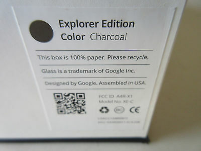 Google Glass Explorer Edition XE-C Charcoal Brand New In Box