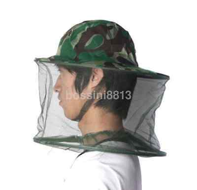 Sun Protection Camping Quick Dry Cap  Anti-mosquito Fishing Hat With Fly Net UK