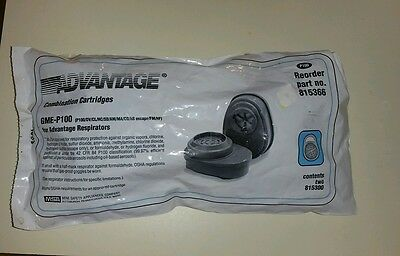 Advantage MSA GME-P100 815366 Pack of 2 Combination Cartridges Respirator Filter