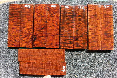 Ringed Gidgee Bookmatched Scales (1 set only)  120-124