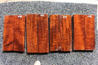 Ringed Gidgee Bookmatched Scales (1 set only) 116-119