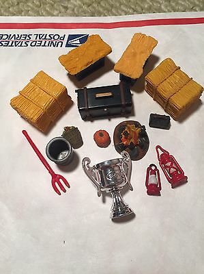 Breyer Stablemate Model Horse Accessory Props Bay Bales Apples Lantern Lot