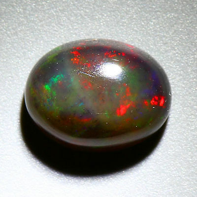 1.34 Cts_Stunning Loose Gemstone_100 % Natural Multi-Color Play Black Opal !!