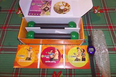 ZUMBA Toning Sticks + 4 DVD's & Instructions In Box Dance Personal Fitness Exclt