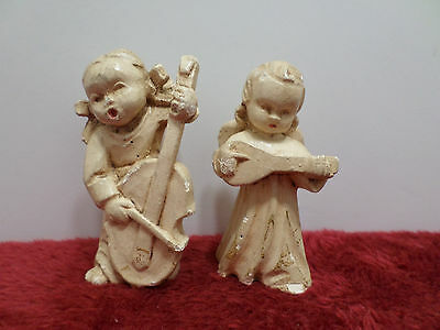 Christmas Angels playing instruments antique