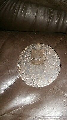 vintage cast iron wood stove cover plate
