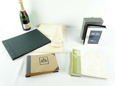 4 NEW Photo Albums inc Corban & Blair, Silver plate, Recycled paper etc