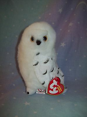 Snowy Owl - TY Beanie Babies toy KNOWLEDGE - Borders Exclusive - soft plush owl