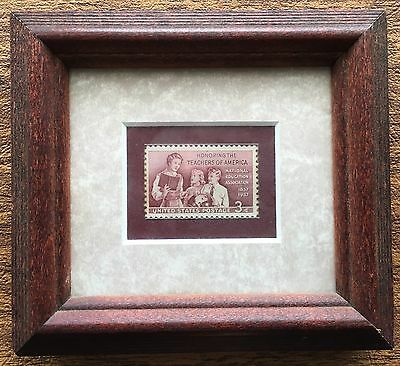1957 USPS Postage Stamp Honoring the Teachers of America Framed & Matted in 1957