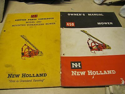 New Holland 450 Mower  Owners Manual & Parts Book