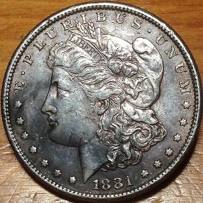 1881 USA SILVER MORGAN DOLLAR..in HIGH GRADE..GOING CHEAP.