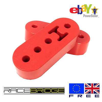 2 x Universal RED Heavy Duty Poly Polyurethane Exhaust Mount Bracket Hanger