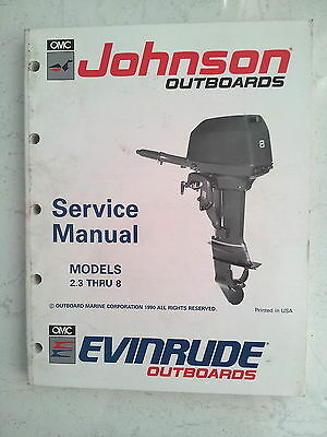 Evinrude Johnson Service Manual 1991  2.3  3  3.3  4  5  6  6.5  8 Hp