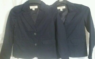 2 Cherokee Kids School Uniform Blazer/Jacket, Navy, Size 7-8, SR $29.95