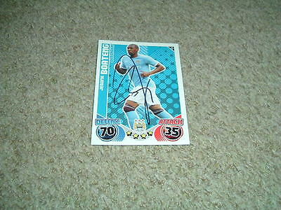 Jerome Boateng - Manchester City - Signed 10/11 Match Attax Trade Card