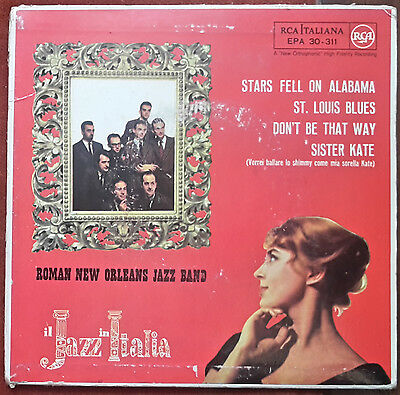 "Roman New Orleans Jazz Band - Stars Fell On Alabama /st. Louis Blues -7"" 1960 Ep"