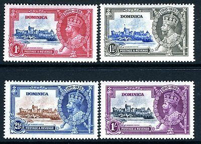 DOMINICA-1935 Silver Jubilee Sg 92-5  MOUNTED MINT V13895