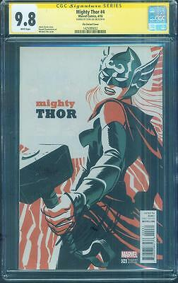 Mighty Thor 1 CGC 9.8 SS Stan Lee Signed Cho Variant Cover Jane Foster Movie